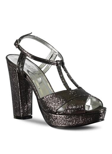 Marjin Topuklu Ayakkabı Gümüş